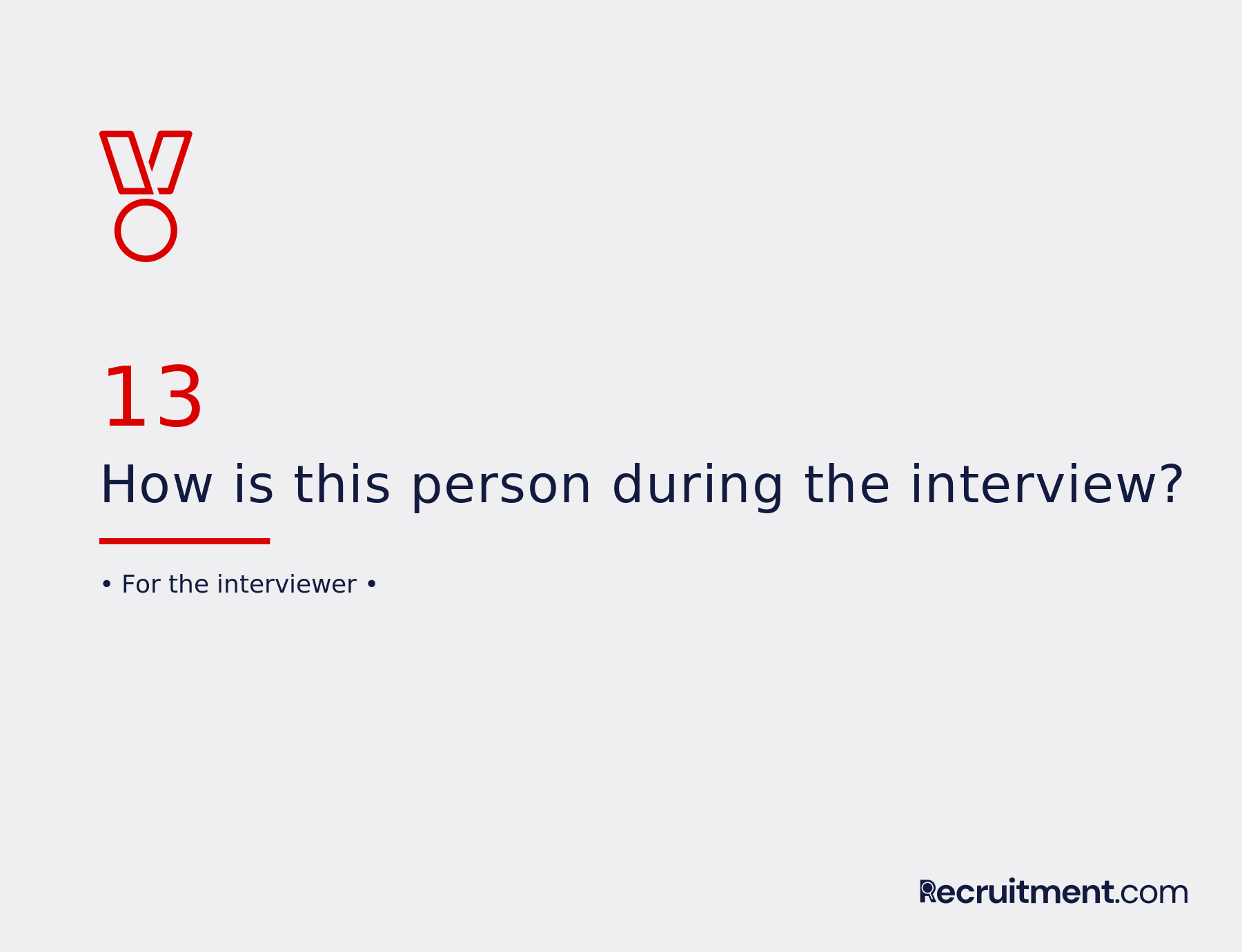 Common interview question 13: How is this person during interview?
